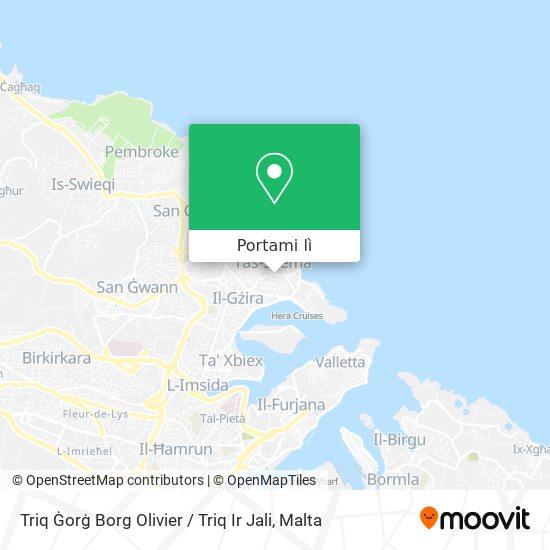Mappa Triq Ġorġ Borg Olivier / Triq Ir Jali