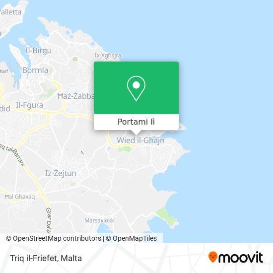Mappa Triq il-Friefet
