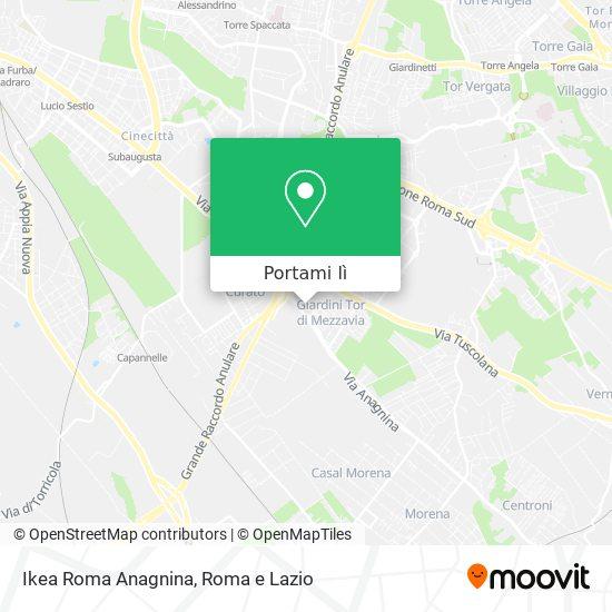 Mappa Ikea Roma Anagnina