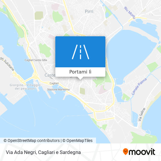Cartina Sardegna Con Aeroporti.Come Arrivare A Via Ada Negri A Cagliari Con Bus O Treno Moovit