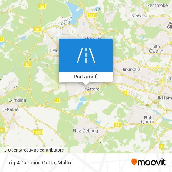 Mappa Triq A.Caruana Gatto