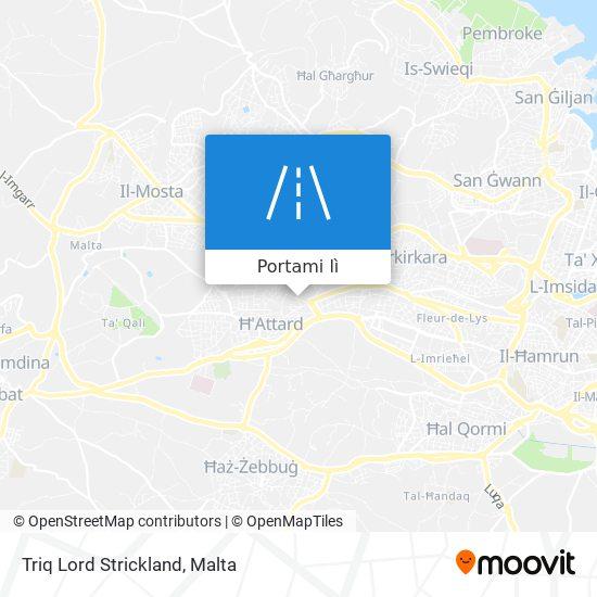 Mappa Triq Lord Strickland
