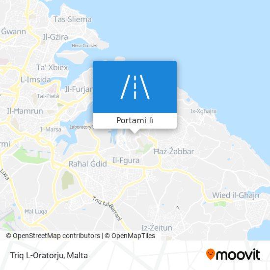 Mappa Triq L-Oratorju