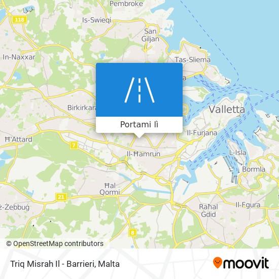 Mappa Triq Misrah Il - Barrieri