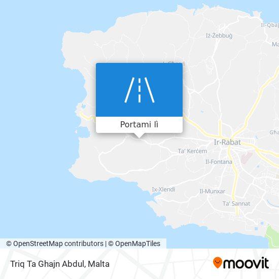 Mappa Triq Ta Ghajn Abdul