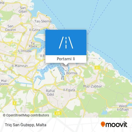 Mappa Triq San Ġużepp