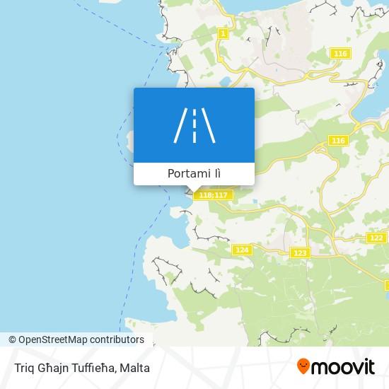 Mappa Triq Għajn Tuffieħa