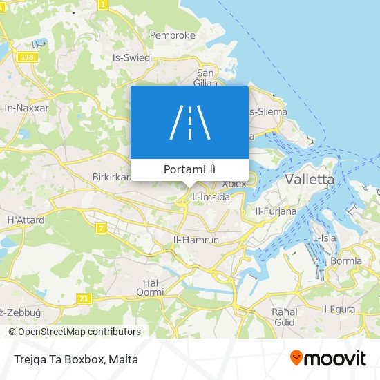 Mappa Trejqa Ta Boxbox