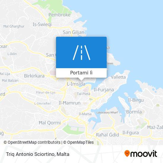 Mappa Triq Antonio Sciortino