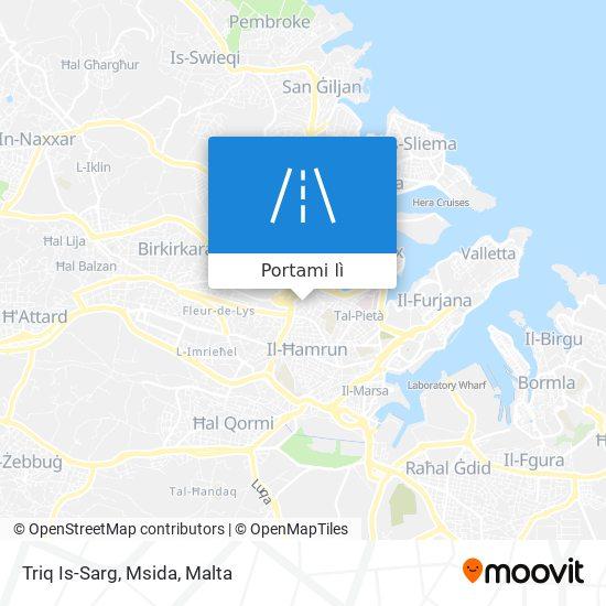 Mappa Triq Is-Sarg, Msida