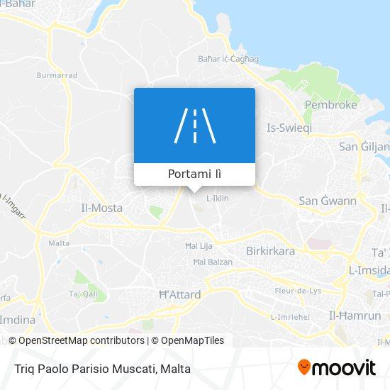 Mappa Triq Paolo Parisio Muscati