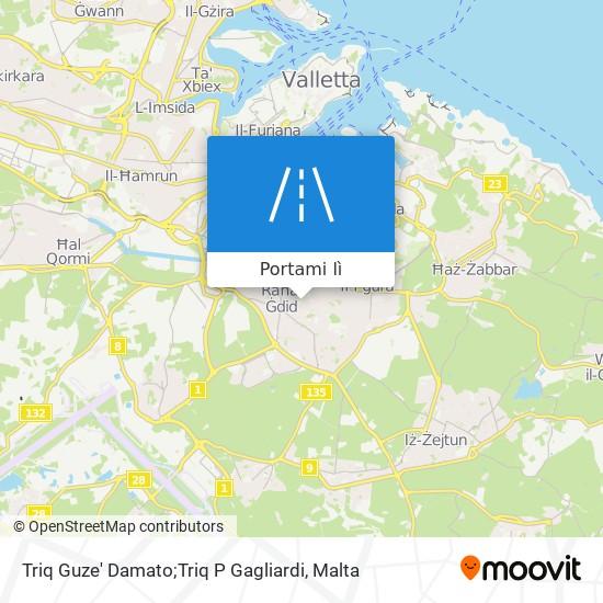 Mappa Triq Guze' Damato;Triq P Gagliardi