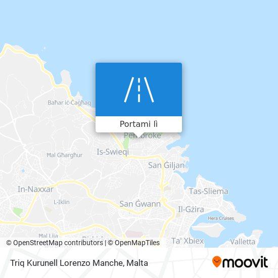 Mappa Triq Kurunell Lorenzo Manche