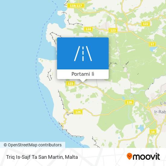 Mappa Triq Is-Sajf Ta San Martin