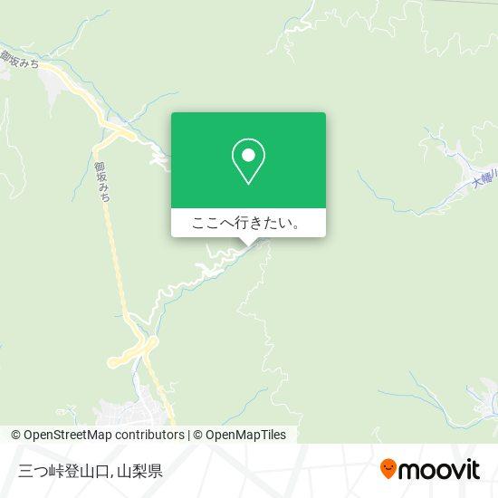 三つ峠登山口地図