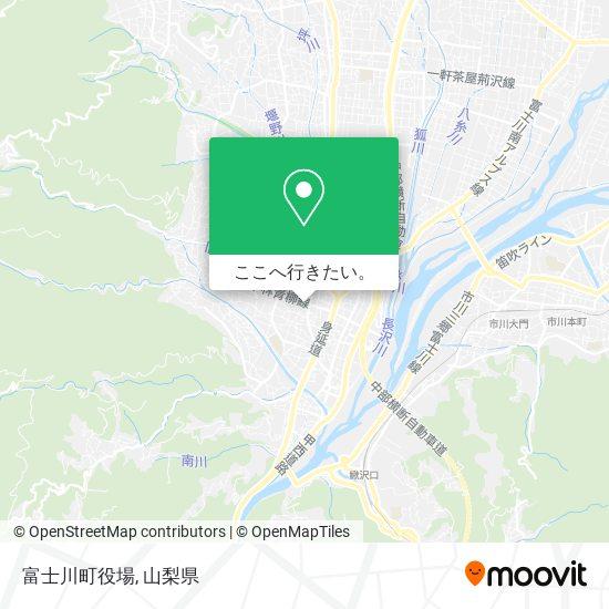 富士川町役場地図
