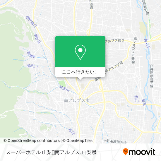 スーパーホテル 山梨・南アルプス地図