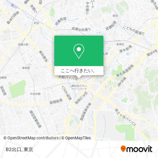 B2出口地図