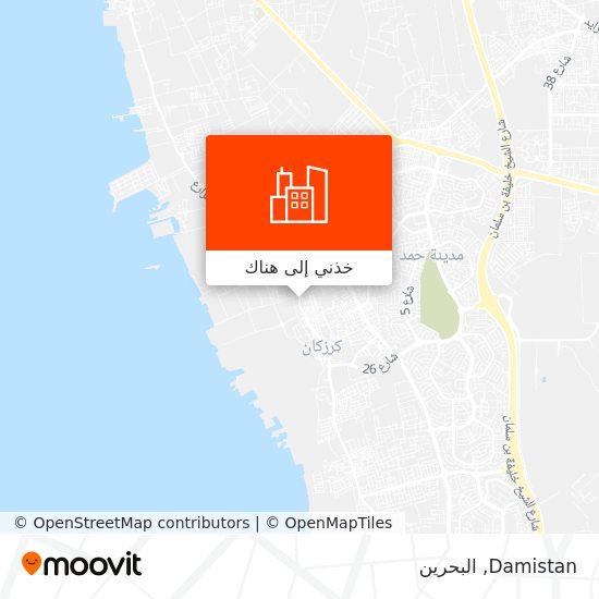 خريطة Damistan