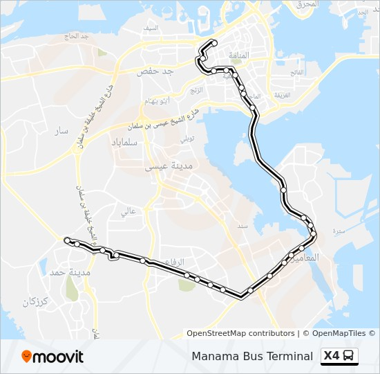 X4 bus Line Map
