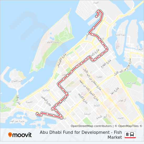 8 Route: Time Schedules, Stops & Maps - Abu Dhabi Fund For