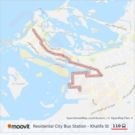 110 Route: Time Schedules, Stops & Maps - Residental City