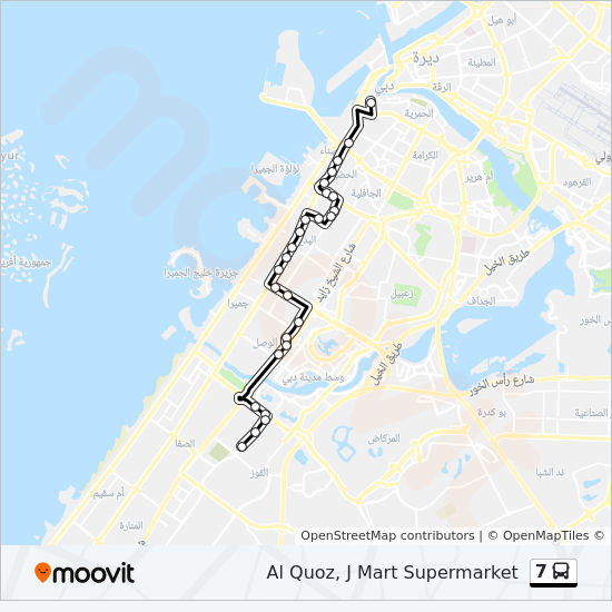 7 Route: Time Schedules, Stops & Maps - Ghubaiba Bus Station