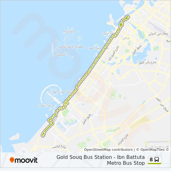 8 Route Time Schedules Stops Maps Ibn Battuta Metro