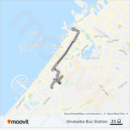 21 Route: Time Schedules, Stops & Maps - Ghubaiba Bus Station