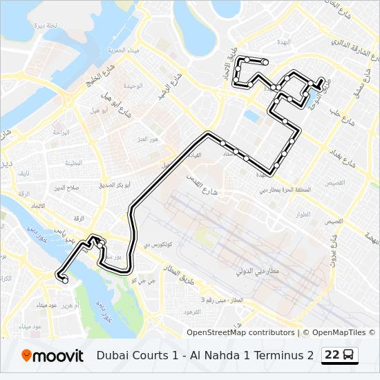 22 Route Time Schedules Stops Amp Maps Dubai Courts 1