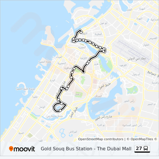 27 Route Time Schedules Stops Amp Maps The Dubai Mall