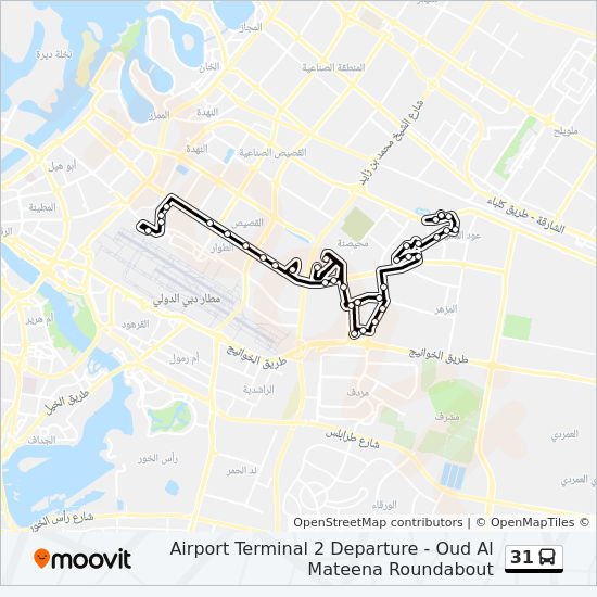 31 Route Time Schedules Stops Amp Maps Oud Al Mateena