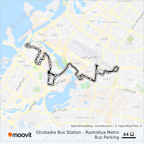 44 bus Line Map