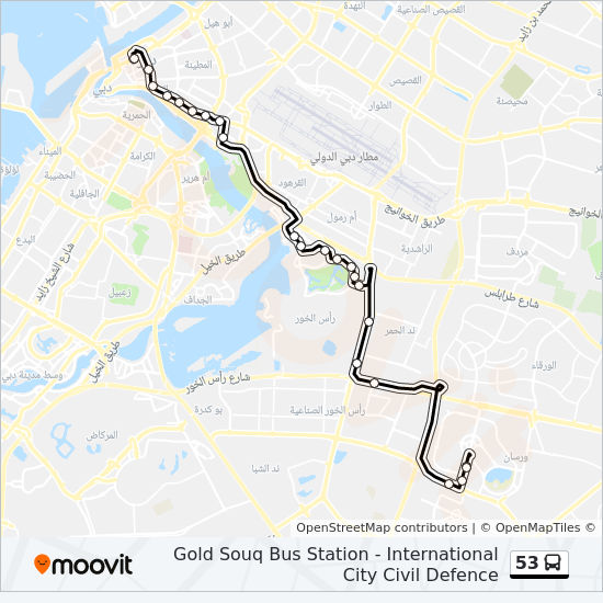 53 Route: Time Schedules, Stops & Maps - International City