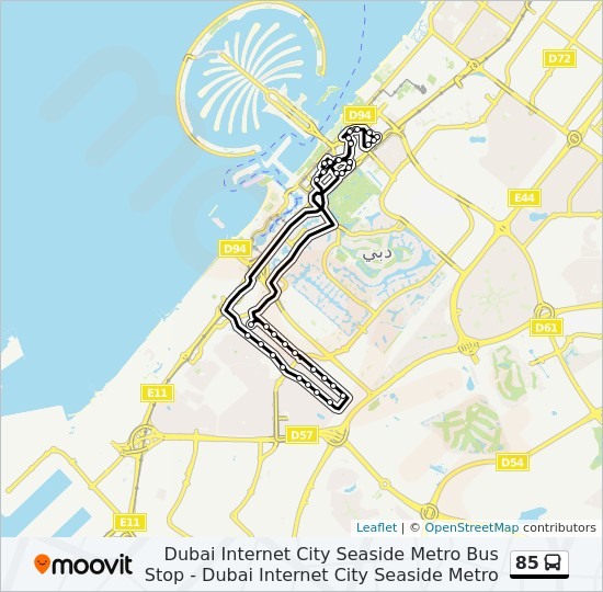 85 Route Time Schedules Stops Amp Maps Dubai Internet