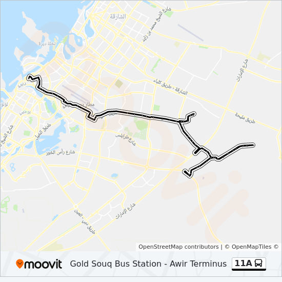 11A Route: Time Schedules, Stops & Maps - Gold Souq Bus Station