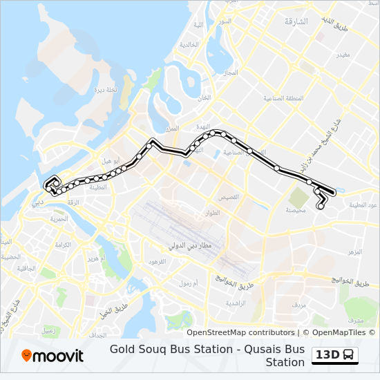 13D Route: Time Schedules, Stops & Maps - Gold Souq Bus Station