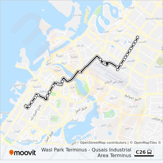 C26 Route: Time Schedules, Stops & Maps - Qusais Industrial