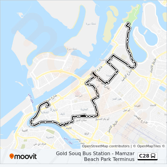 C28 Route Time Schedules Stops Amp Maps Gold Souq Bus