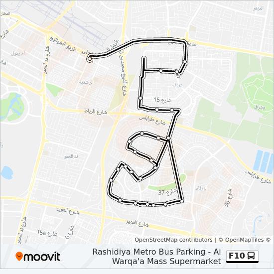 F10 Route Time Schedules Stops Amp Maps Rashidiya Metro