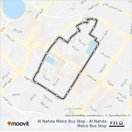 F21 Route: Time Schedules, Stops & Maps - Al Nahda Metro Bus