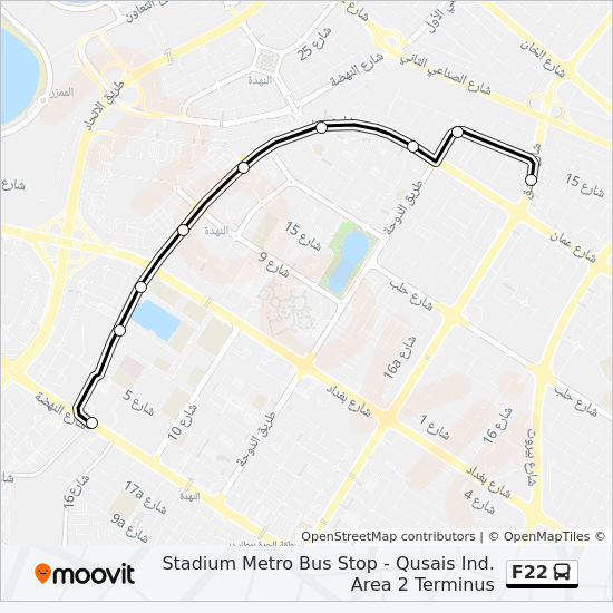 F22 Route Time Schedules Stops Amp Maps Qusais Ind Area