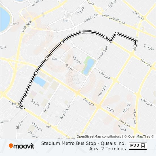 F22 Route Time Schedules Stops Amp Maps Stadium Metro