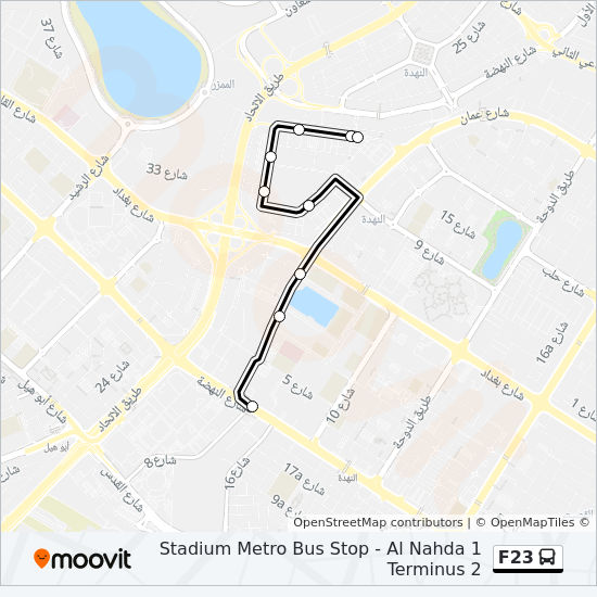 F23 Route Time Schedules Stops Amp Maps Al Nahda 1