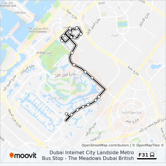 F31 Route Time Schedules Stops Maps The Meadows Dubai