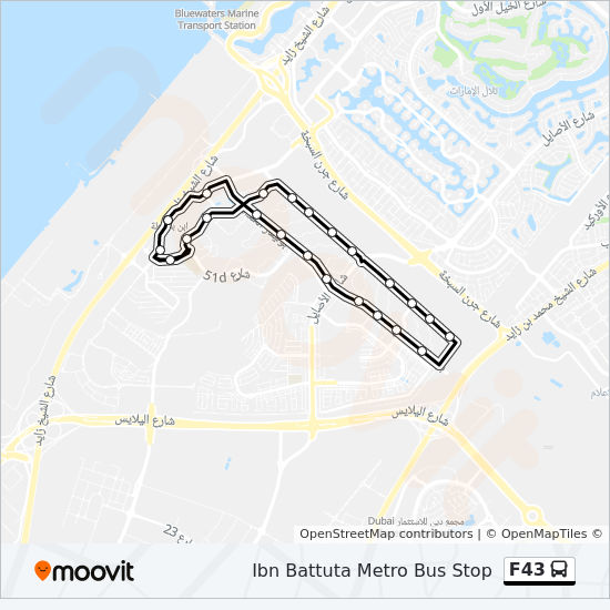 F43 Route Time Schedules Stops Amp Maps Ibn Battuta