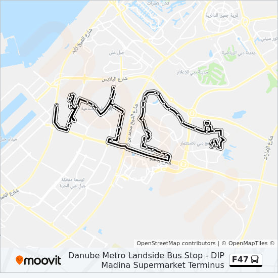 F47 Route: Time Schedules, Stops & Maps - Danube Metro
