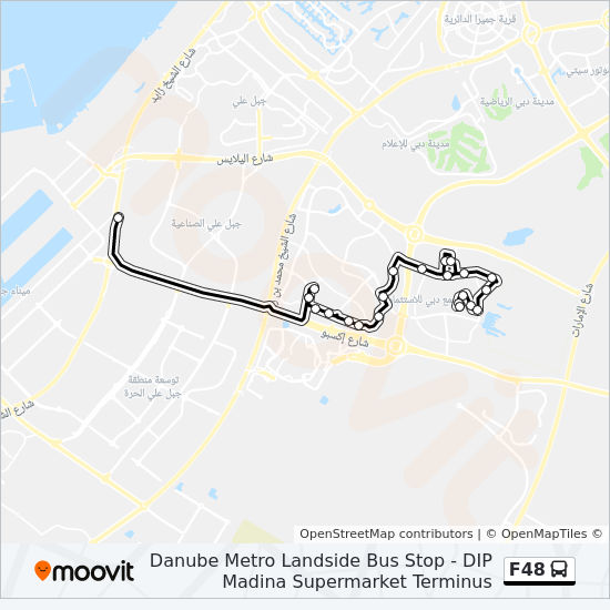 F48 Route: Time Schedules, Stops & Maps - Danube Metro Landside Bus Stop