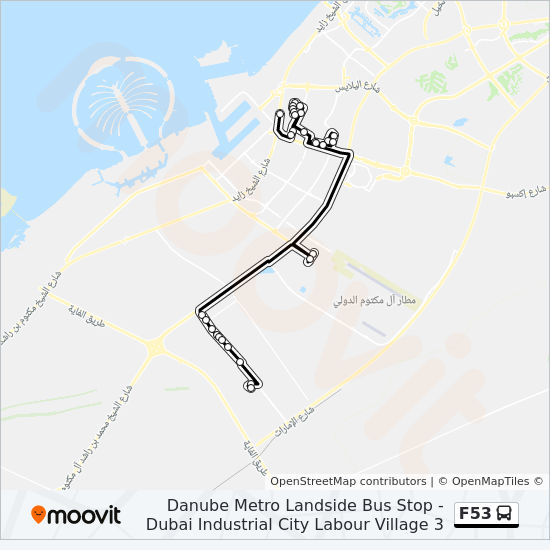F53 Route Time Schedules Stops Amp Maps Dubai Industrial
