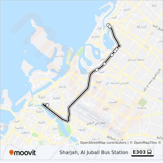 E303 Route: Time Schedules, Stops & Maps - Sharjah, Al Jubail Bus